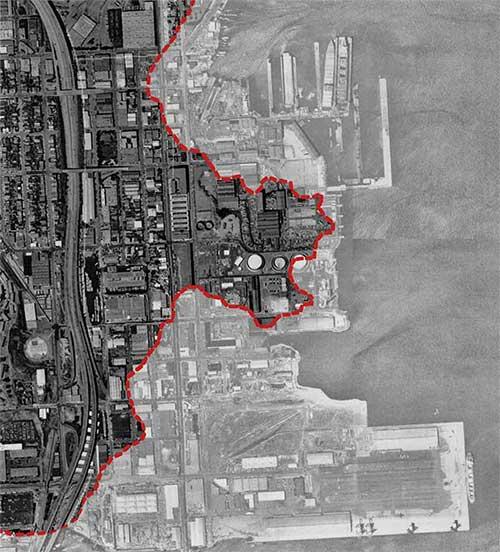 Pier 70 San Francisco Map.Pier 70 Geography