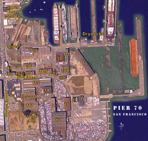 Pier 70 Map Page Map Of San Francisco Pier on map of san francisco pier 15, map of fisherman's wharf pier 14, map of san francisco pier 28, map of san francisco pier 1, map of san francisco pier 39 area,